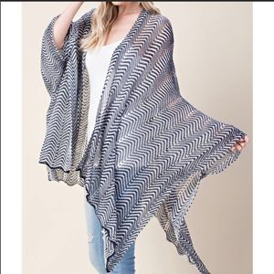 Navy knit poncho Reposh from Desired Collection